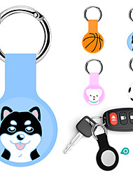 cheap -Silicone Case with Keychain Ring Designed for AirTag Anti-Lost Anti-Scratch Tracker Location Cover For AirTags Holder