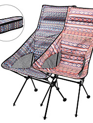 cheap -Camping Chair High Back with Headrest Portable Ultra Light (UL) Multifunctional Foldable Aluminum Alloy for 1 person Fishing Beach Camping Traveling Autumn / Fall Winter Red Blue / Breathable
