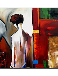cheap -Oil Painting Handmade Hand Painted Wall Art Abstract People Modern Home Decoration Decor Rolled Canvas No Frame Unstretched