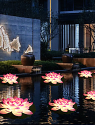 cheap -Solar Lights Outdoor Waterproof LED Lotus Pond Lamp Colorful Color Changing Swimming Pool Landscape Garden Decorative Light