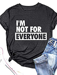 cheap -i'm not for everyone shirts for women funny sarcastic shirt top short sleeve casual graphic print t shirt (grey2, xx-large)