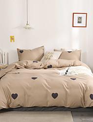 cheap -Duvet Cover Sets 3 Piece Rayon / Polyester Floral / Botanical Rainbow Reactive Print Bohemian Style