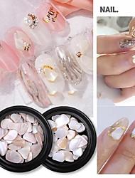 cheap -5 Pcs Nail Art Shell Pieces Jewelry Japanese Shell Stone Abalone Shell Nail Sticker Diamond Natural Hand Polished Jewelry