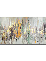 cheap -Oil Painting Handmade Hand Painted Wall Art Mintura Modern Abstract Gold Foil Home Decoration Decor Rolled Canvas No Frame Unstretched