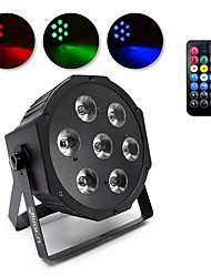 cheap -RGBW PAR Light 7 LED Beads PAR Strobe Fade Jump Multifunctional Effects with Remote 7CH DMX Master-slave Auto Sound Activated Control for Stage Party Wedding Church Bar KTV Disco DJ Show Concert