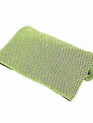 cheap -cooling towels, soft, breathable, light and absorbent, for athletes, runners, yoga, fitness, sport and outwork, green