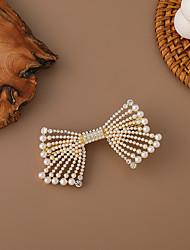 cheap -korea bowknot pearl diamond hair accessories hairpin girls medium-long hair back head hairpin tie hair spring clip