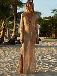 cheap -Women's Swim Dress Swimsuit Solid Color Light apricot White Black Plus Size Swimwear Bathing Suits New / Beach