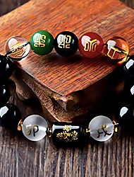 cheap -smart dk obsidian five-element 12mm bracelet, attract wealth and good luck, deluxe gift box included (12mm black)