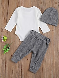 cheap -Baby Girls' Basic Print Long Sleeve Regular Clothing Set Gray