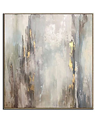 cheap -Oil Painting Handmade Hand Painted Wall Art Abstract Minimalist Golden Home Decoration Decor Rolled Canvas No Frame Unstretched