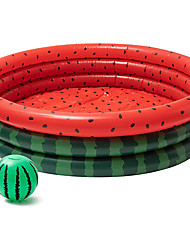 cheap -Inflatable Kiddie Pool Watermelon Large Swimming Pools Beach Ball Set Kids Paddling Pool Durable Water Pool Fishing Game Pool Summer Water Party for Adults Backyard Outdoor Indoor (Without Beach Ball)