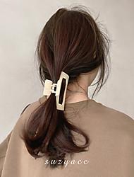 cheap -korean gentle temperament matte surface rectangular back head hair clip hair clip simple retro wind catch clip hair accessories