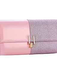 cheap -Women's Bags Polyester Evening Bag Glitter Chain Color Block Party Wedding Sequins Chain Bag Blushing Pink Black Gold Silver