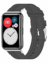 cheap -smartwatch band bracelet compatible for huawei watch fit, breathable woven smartwatch band adjustable replacement bracelet for huawei watch fit , gray a
