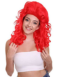 cheap -halloweencostumes Ariel Hpo Wome Troll Long Pink Curly Wig Breathable Capless Cap Design