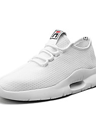 cheap -Men's Trainers Athletic Shoes Sporty Daily Outdoor Running Shoes Mesh Non-slipping White Red Black Spring Summer