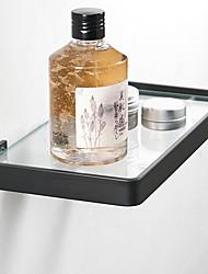 cheap -Multifunction Bathroom Glass Rack Wall Mounted 304 Stainless Steel Bathroom Single Rack