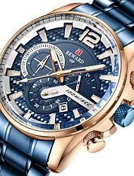 cheap -Reward men's watch fashion quartz watch three-eye chronograph multi-function steel belt