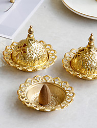 cheap -middle eastern style small mini ceramic incense burner gold iron art metal incense burner desktop decoration one shipment