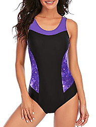 cheap -girls swimsuit athletic bathing suits tummy control one-piece women's swimwear training sport womans one piece swimsuit purple stars us 10-12