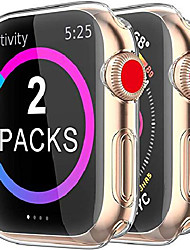 cheap -Smart watch Case for apple watch series se 6 5 4 3 screen protector 40mm 44mm 38mm 42mm,[2 pack] soft tpu hd clear ultra-thin overall protective cover case