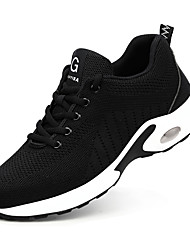 cheap -Unisex Trainers Athletic Shoes Sneakers Sporty Classic Chinoiserie Office & Career Safety Shoes Tissage Volant Breathable Non-slipping Wear Proof Booties / Ankle Boots Black / White Black Spring