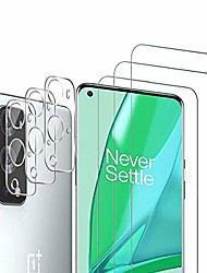 cheap -Phone Screen Protector For OnePlus OnePlus 9 OnePlus 8 Pro OnePlus 8 OnePlus 7T Oneplus 7 Tempered Glass 3 pcs High Definition (HD) Scratch Proof Front Screen Protector Phone Accessory