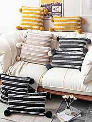 cheap -Cushion Cover Jacquard Plush Surrounding Ball Craft Cotton Classic