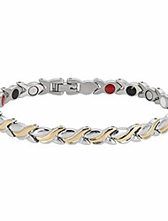 cheap -tmishion women gril magnetic bracelet stylish chain for arthrity pain relief health care