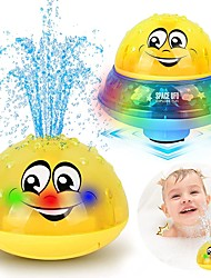 cheap -Bath Toys, 2 in 1 Squirt Spray Water Toy LED Light Up Float Toys Automatic Induction Sprinkler Space UFO Car Toys for Baby Toddler Infant Kids Bathtub Shower Pool Toys