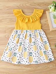 cheap -Baby Girls' Basic Fruit Sleeveless Dress Yellow