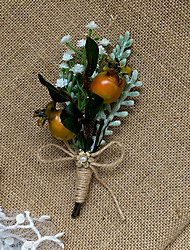 "cheap -Wedding Flowers Boutonnieres Wedding / Wedding Party Artificial Flower 5.91""(Approx.15cm)"