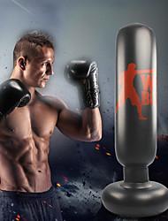 cheap -Punching Bag For Taekwondo Martial Arts Kick Boxing Leak-Proof Explosion-Proof Non Toxic PVC Adults' Black