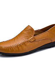 cheap -Men's Loafers & Slip-Ons Crochet Leather Shoes Comfort Loafers Business Casual Classic Daily Outdoor Walking Shoes Nappa Leather Cowhide Breathable Handmade Non-slipping Booties / Ankle Boots Light
