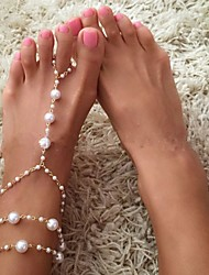 cheap -Anklet Stylish Women's Body Jewelry For Holiday Beach Alloy White 1pc