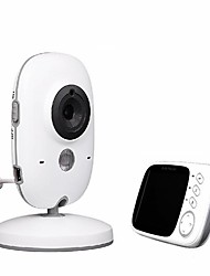 cheap -3.2 Inch Baby Monitor 0.3 mp Effective Pixels 45 ° Viewing Angle Night Vision Range Wireless Video Color High Resolution Security System Temperature Monitoring Camera Pet Dog Camera