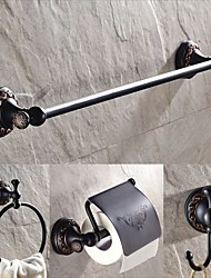 cheap -Bathroom Accessory Include Towel Bar/Toilet Paper Holder /Robe Hook/Towel Ring Antique Brass Wall Mounted Polished