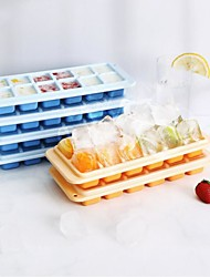 cheap -12 Ice Cube Maker Ice Tray with Lid Push-type Plastic Ice Cube Maker DIY Mold