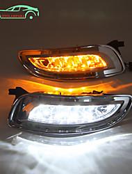 cheap -OTOLAMPARA Car LED Daytime Running Light Bulbs 20W for Toyota Lexus RX320 2004-2008 Year White Amber Double Color Lightness 2pcs