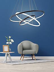 cheap -LED Pendant Light Ring Circle Design Modern Black White Oreo Design 204060 cm Dimmable Chandelier Aluminum Sputnik Zinc Alloy 110-120V 220-240V