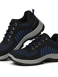 cheap -Steel Toe Safety Shoes Mens Trainer Flyknit Breathable Slip Resistant Wear Proof Spring Summer