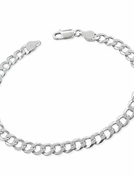 cheap -treasurebay mens womens solid 925 sterling silver chain bracelet - 6.2mm width available in 18.5cm, 20cm and 21cm (21.5)