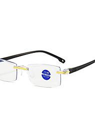 cheap -Anti-Blu-ray Diamond Trimmed Reading Glasses Stand Frameless One-piece Fashion HD Reading Glasses  Reading Glasses Men And Women