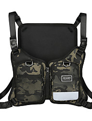 cheap -Men's Bags Oxford Cloth Sling Shoulder Bag Buttons Zipper Camo / Camouflage Daily 2021 Black Rainbow