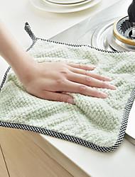 cheap -12 Packs Kitchen Cloth Dish Towels Premium Dishcloths Super Absorbent Coral Velvet Dishtowels Nonstick Oil Washable Fast Drying
