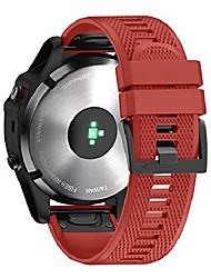 cheap -smartwatch band bracelet for garmin fenix 6x / fenix 6x pro / fenix 5x / fenix 5x plus / fenix 3 / fenix 3 hr, 26mm wide silicone estraz strap quick-fit watch strap for garmin