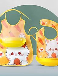 cheap -Baby's Eating Bibs And Rice Pockets Baby Children's Gowns Waterproof Aprons Saliva Towels Sleeveless Bibs