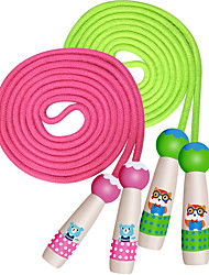 cheap -Adjustable Cotton Jump Rope for Kids Toddlers Skipping Fitness - Wooden Handle  Ropes 2 Pack for Children School Students Jumping Exercise Workout Activity & Party Favor