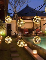 cheap -Solar String Lights Outdoor LED Moroccan Ball Waterproof 10M-50LED 7M-30LED 5M-20LED Globe Fairy String Light Orb Lantern Christmas Lighting for Outdoor Wedding Party Home Decoration